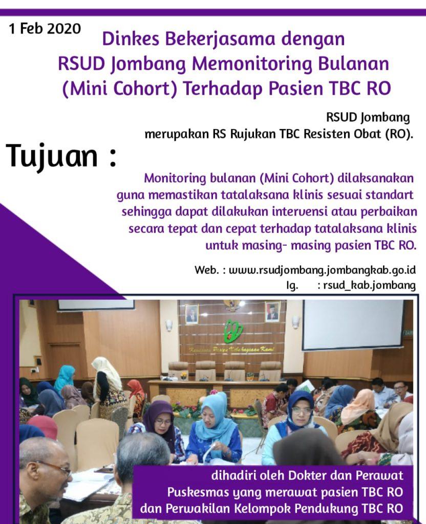 Dinkes Bersama RSUD Kab. Jombang Memonitoring Bulanan Pasien TBC RO