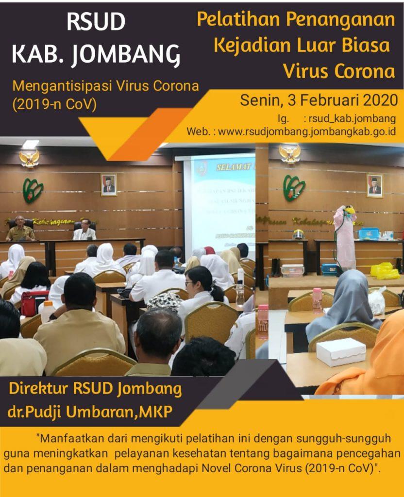 RSUD Gelar Pelatihan Untuk Mengantisipasi Virus Corona (2019-n CoV)