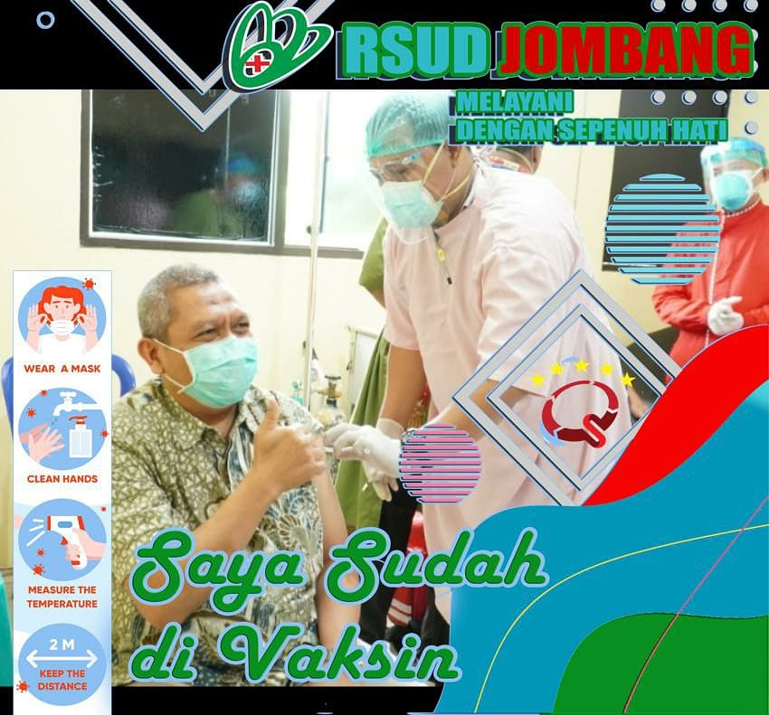 Prokes Vaksinasi Karyawan RSUD Jombang